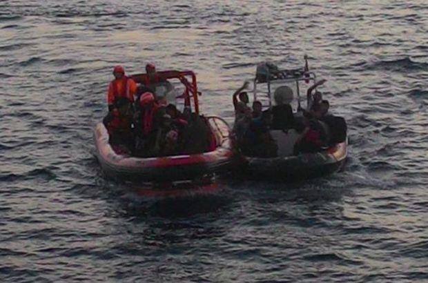 İki ayrı operasyonda 44 kaçak göçmen ve 1 insan kaçakçısı yakalandı
