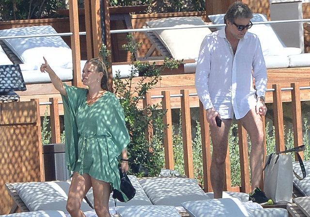 Kate Moss tatil için Bodrum'da
