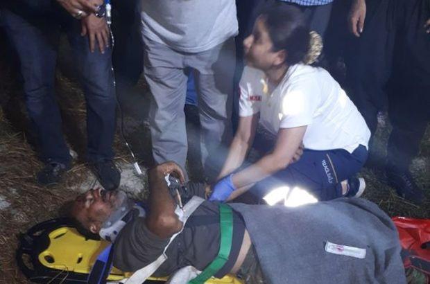 Adana'da kayalıklardan düşen kişi kurtarıldı