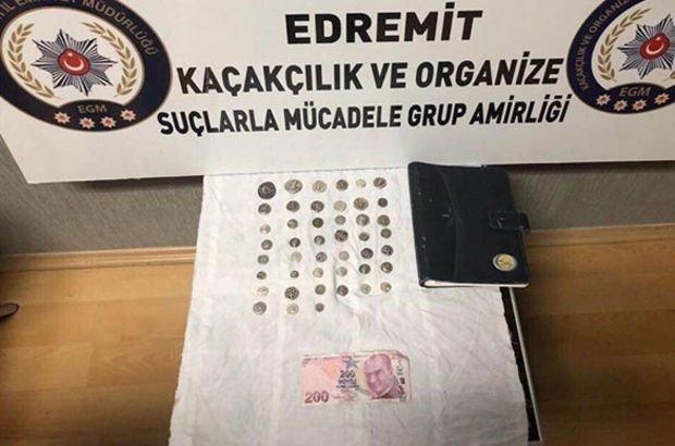 Edremit'te emekli astsubaya sahte para gözaltısı