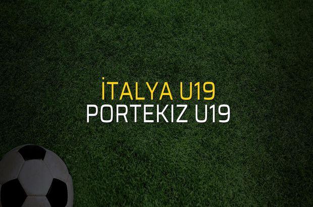İtalya U19 - Portekiz U19 rakamlar