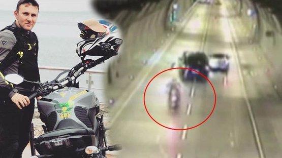 Motosiklet tutkunu gencin feci kazası kamerada