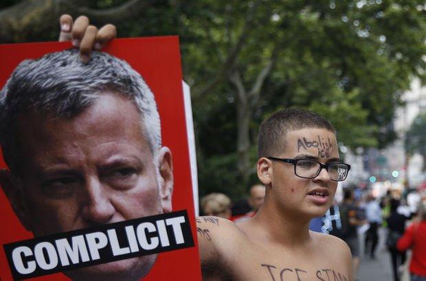 New York'ta göçmenlere destek protestosu