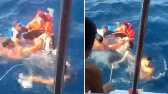 Ege Denizi'nde can pazarı! Kaçak göçmenler son anda kurtarıldı