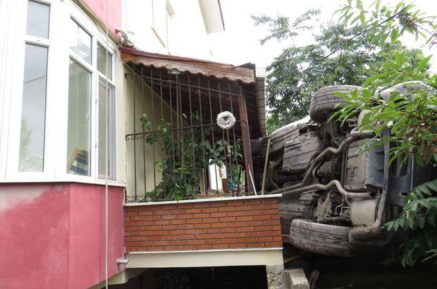 Lüks cip evin bahçesine uçtu