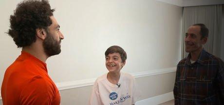 16 yaşındaki Ammar Halabi, Mohamed Salah ile bir araya geldi