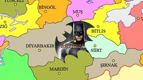 Batman, 'Batman' olmak istiyor! 'İl sınırları Batman logosu olsun' kampanyası başlatıldı