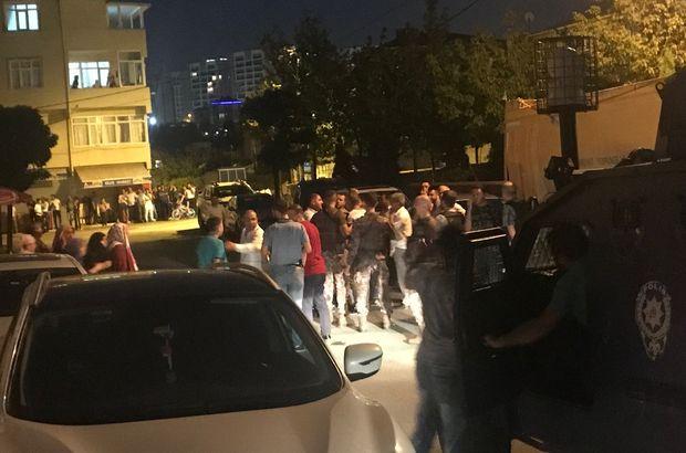 İki aile arasında çıkan kavgada polise taşlı saldırı