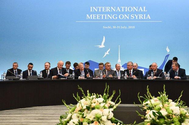 Suriye konulu 10. Garantörler Toplantısı Soçi'de yapıldı