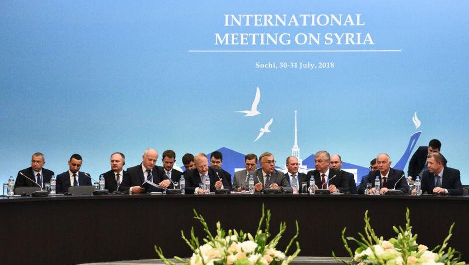 Soçi'de Suriye konulu Garantörler Toplantısı
