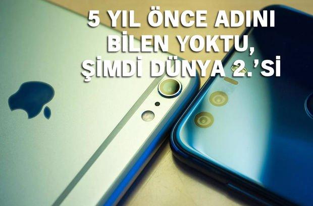 akıllı telefon pazar payı Samsung Apple