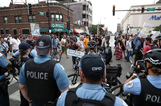 ABD protesto