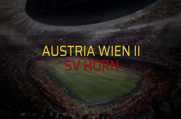Austria Wien II - SV Horn maçı ne zaman?