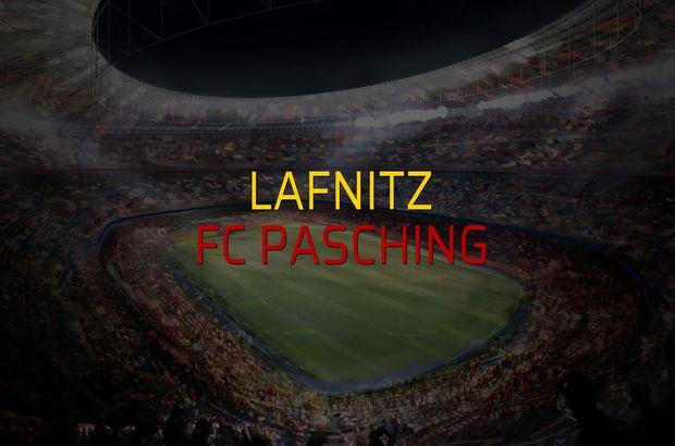 Lafnitz - FC Pasching maçı rakamları