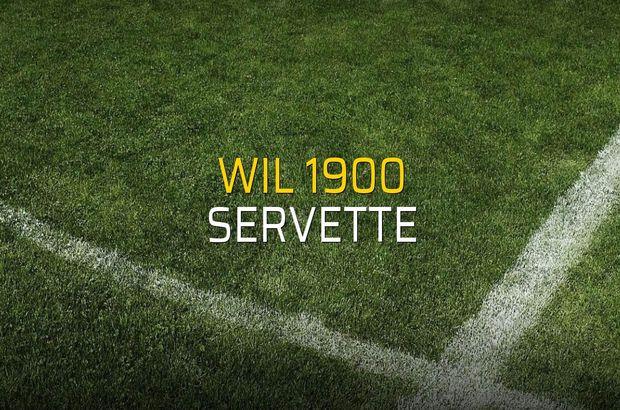 Wil 1900 - Servette maçı öncesi rakamlar