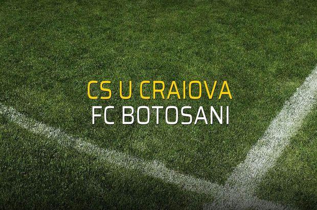 CS U Craiova - FC Botosani düellosu