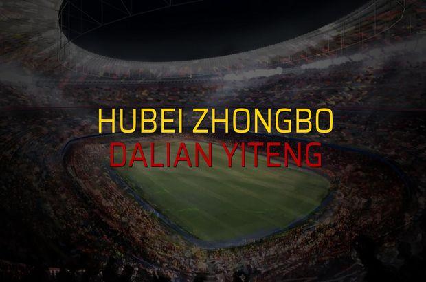 Hubei Zhongbo - Dalian Yiteng maçı istatistikleri