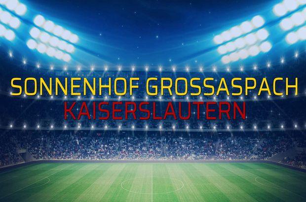 Sonnenhof Grossaspach - Kaiserslautern rakamlar