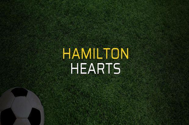 Hamilton - Hearts rakamlar