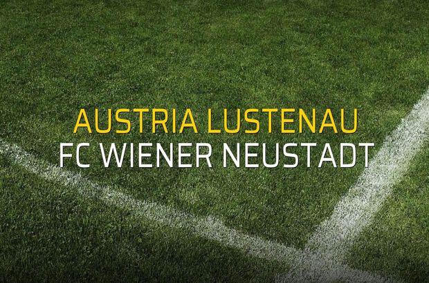 Austria Lustenau - FC Wiener Neustadt maçı rakamları