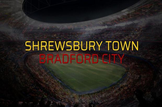 Shrewsbury Town - Bradford City maçı öncesi rakamlar