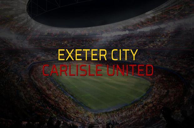 Exeter City - Carlisle United maçı heyecanı