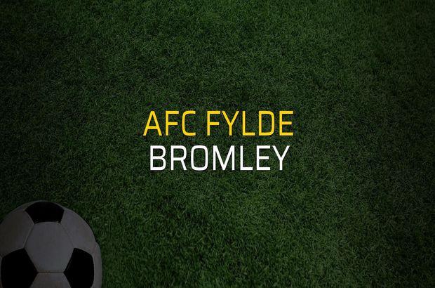 AFC Fylde - Bromley maçı rakamları
