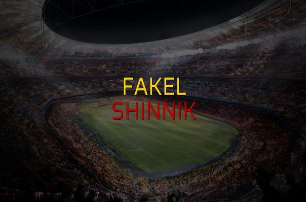 Fakel - Shinnik maçı istatistikleri