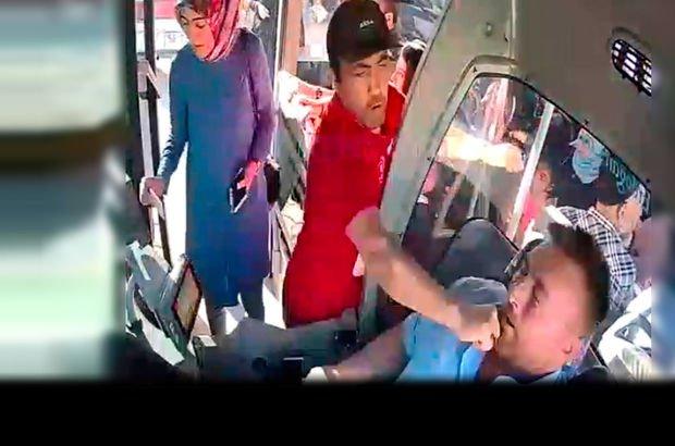 Yolcu otobüsü kavga