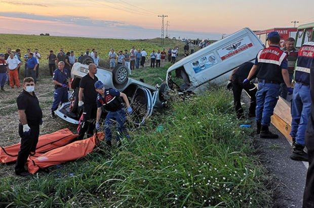 Edirne'de feci kaza: Ölü ve yaralılar var