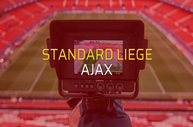 Standard Liege - Ajax maçı rakamları
