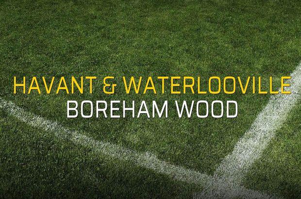 Havant & Waterlooville - Boreham Wood karşılaşma önü