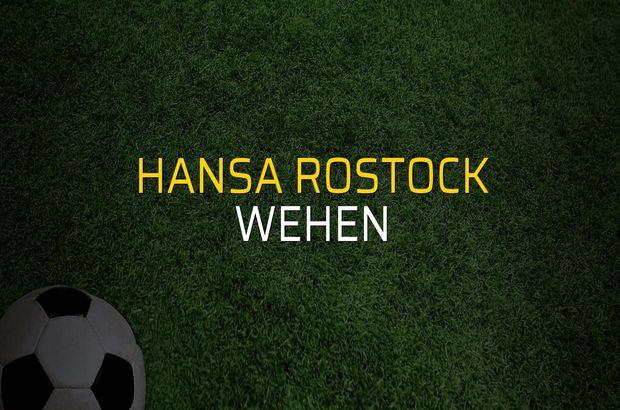 Hansa Rostock - Wehen sahaya çıkıyor