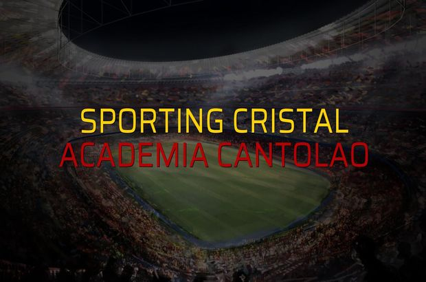 Sporting Cristal - Academia Cantolao maçı istatistikleri