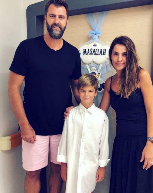 Mehmet Okur - Yeliz Okur çiftinin oğulları Yiğit sünnet oldu - Magazin haberleri