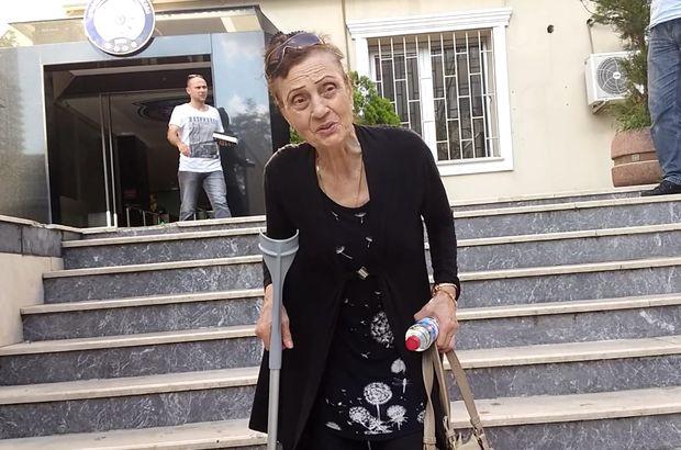 Yaşlı kadın güçlükle emniyete gitti