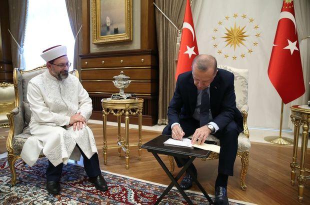 Erdoğan, kurban bağışını yaptı