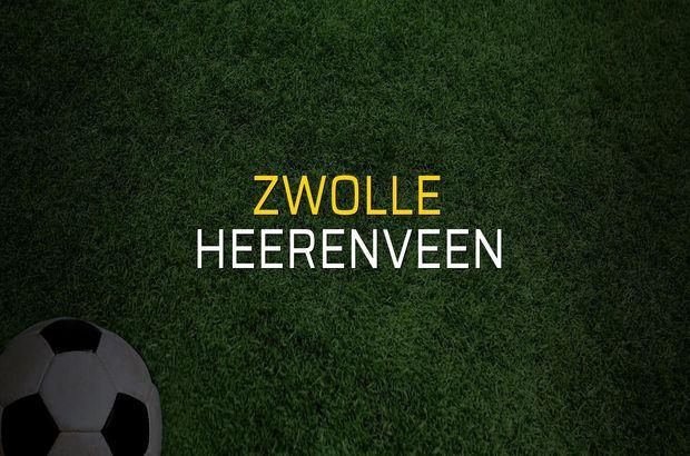 Zwolle - Heerenveen karşılaşma önü
