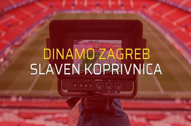 Dinamo Zagreb - Slaven Koprivnica düellosu