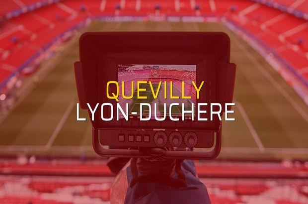 Quevilly - Lyon-Duchere sahaya çıkıyor