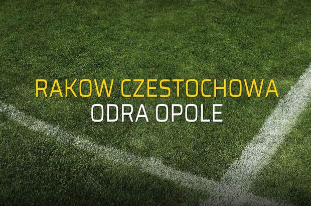 Rakow Czestochowa - Odra Opole maçı öncesi rakamlar