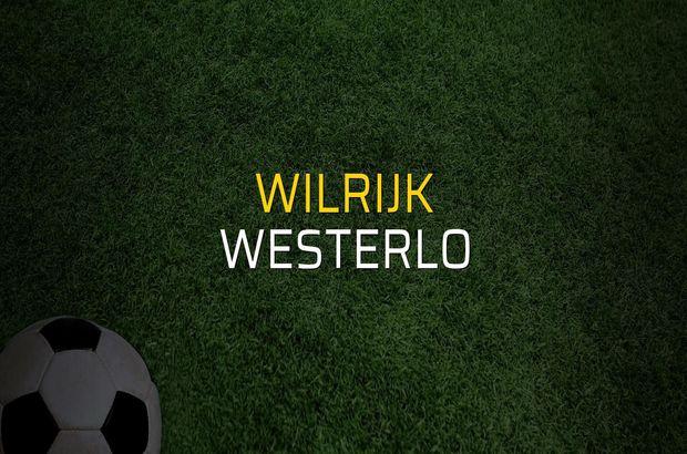 Wilrijk - Westerlo sahaya çıkıyor