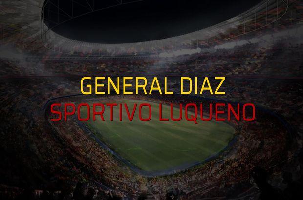 General Diaz - Sportivo Luqueno rakamlar