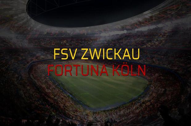 FSV Zwickau - Fortuna Köln maçı öncesi rakamlar