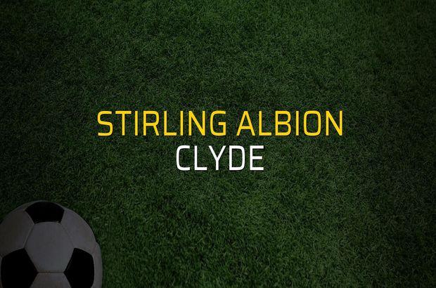 Stirling Albion - Clyde karşılaşma önü