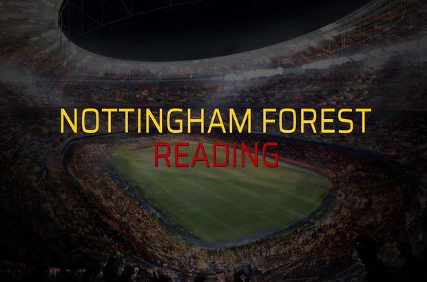 Nottingham Forest - Reading maçı heyecanı