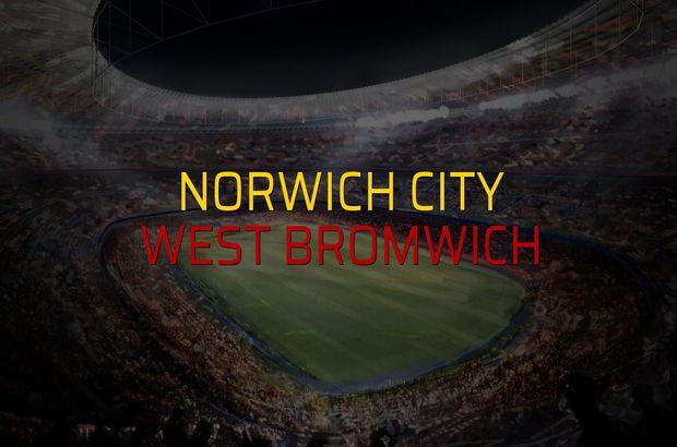 Norwich City - West Bromwich maçı öncesi rakamlar