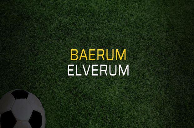 Baerum - Elverum rakamlar