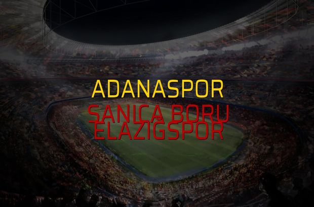 Adanaspor - Sanica Boru Elazığspor maçı istatistikleri