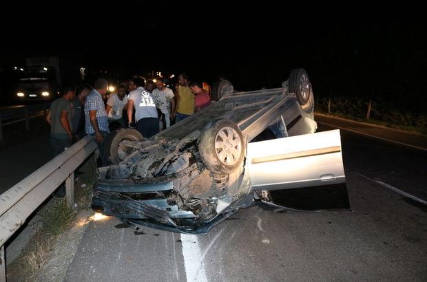 Otomobil traktöre çarptı: Yaralılar var